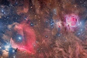 Widefield View of Orion Nebula and Horsehead Nebula