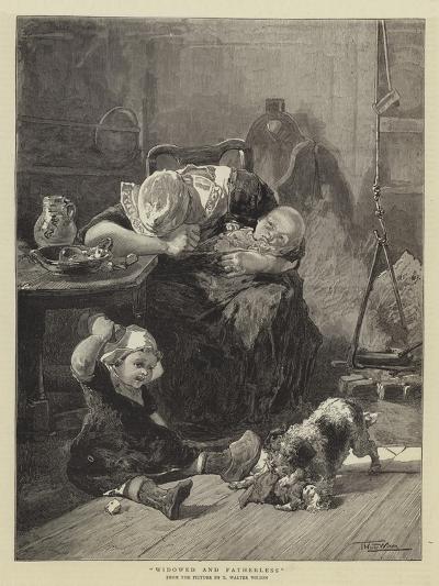 Widowed and Fatherless-Thomas Walter Wilson-Giclee Print