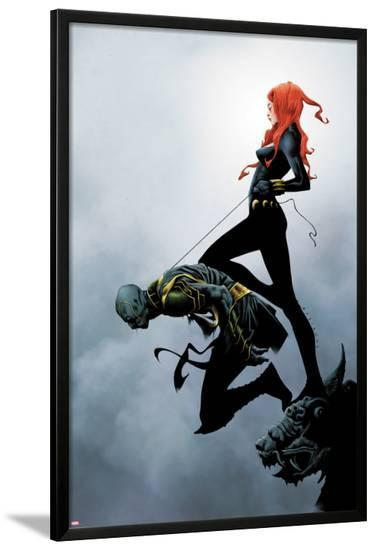 Widowmaker No.2 Cover: Black Widow Holding Another By a Rope-Jae Lee-Lamina Framed Poster