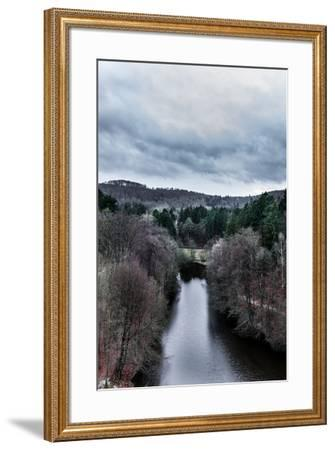 Wiembecke pond at  the Externsteine-By-Framed Photographic Print