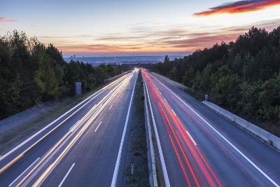 Wiener Au§enring Autobahn A21' (Highway), View from Gie§hŸbl to Vienna, Austria, Europe-Gerhard Wild-Photographic Print
