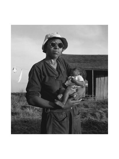 Wife and Child of Tractor Driver-Dorothea Lange-Art Print