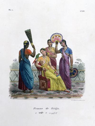 Wife of a Rajah, 1828- Marlet et Cie-Giclee Print