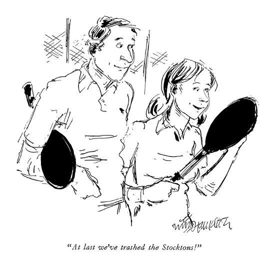 Wife to husband after a game of tennis. - New Yorker Cartoon-William Hamilton-Premium Giclee Print