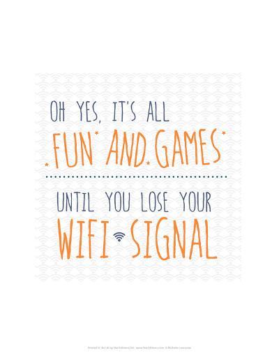Wifi Signal - Wink Designs Contemporary Print-Michelle Lancaster-Art Print