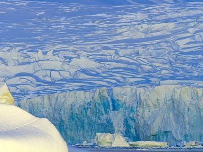 Wiggins Glacier Descending into Sea-John Eastcott & Yva Momatiuk-Photographic Print