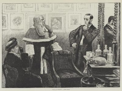 Wigs and Wigdom, a New Judge--Giclee Print