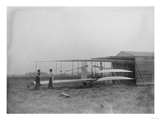 Wilbur & Orville Wright in 2nd powered machine Photograph - Dayton, OH-Lantern Press-Art Print