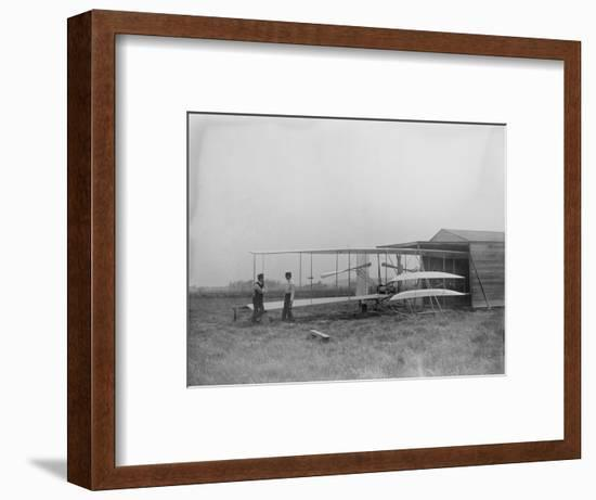 Wilbur & Orville Wright in 2nd powered machine Photograph - Dayton, OH-Lantern Press-Framed Art Print
