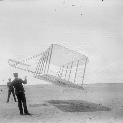 Wilbur Wright at Left and Orville Wright at Right--Photographic Print