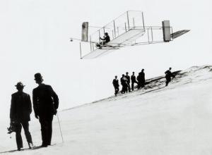 Wilbur Wright Biplane Aviation Beach
