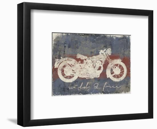 Wild and Free Motorcycle-Eric Yang-Framed Art Print