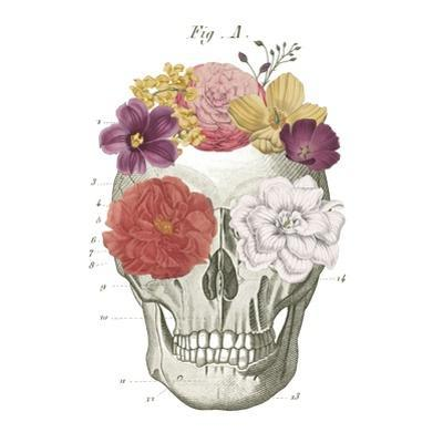 Floral Skull I by Wild Apple