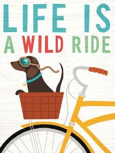Beach Bums Dachshund Bicycle I Life by Wild Apple Portfolio