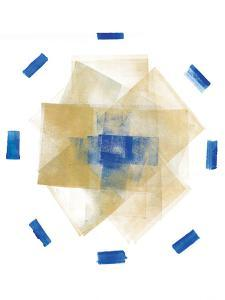 Blue and Gold Element I by Wild Apple Portfolio