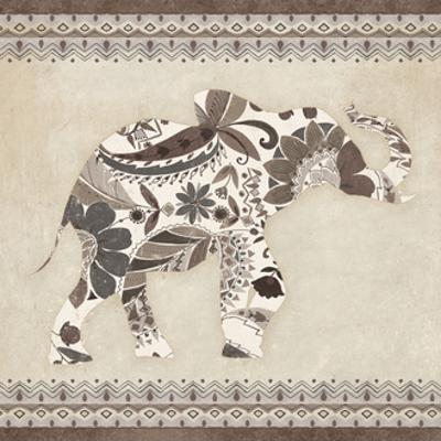 Boho Elephant I Neutral by Wild Apple Portfolio