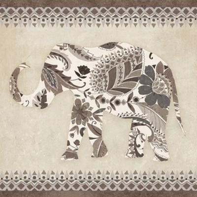 Boho Elephant II Neutral by Wild Apple Portfolio