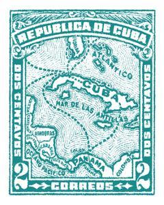 Cuba Stamp XIII Bright by Wild Apple Portfolio