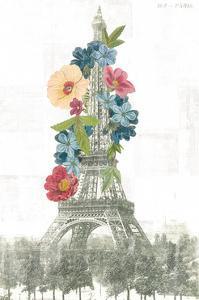 Floral Eiffel Tower by Wild Apple Portfolio