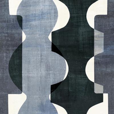 Geometric Deco I BW by Wild Apple Portfolio