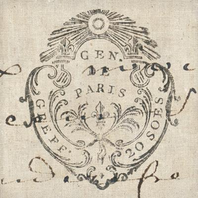 Letter Crest I by Wild Apple Portfolio