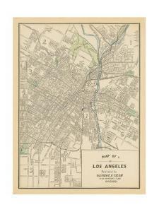 Map of Los Angeles by Wild Apple Portfolio