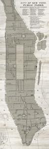 New York Parks Map Vertical by Wild Apple Portfolio