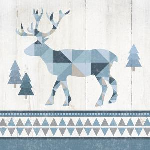 Nordic Geo Lodge Deer IV by Wild Apple Portfolio