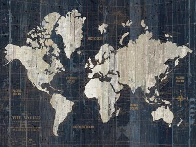 Old World Map Blue v2