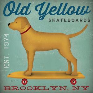 Old Yellow Skateboards by Wild Apple Portfolio