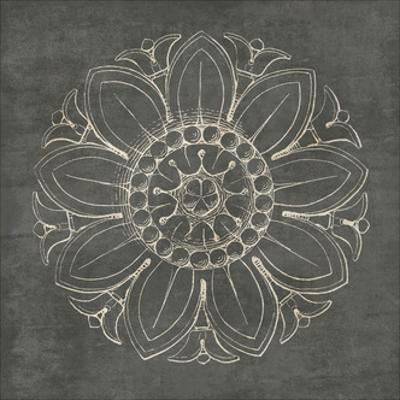 Rosette VII Gray by Wild Apple Portfolio