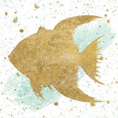 Silver Sea Life Aqua Fish by Wild Apple Portfolio