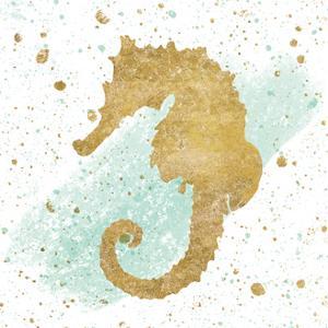 Silver Sea Life Aqua Seahorse by Wild Apple Portfolio