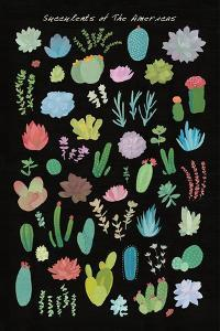 Succulent Chart I of the Americas by Wild Apple Portfolio