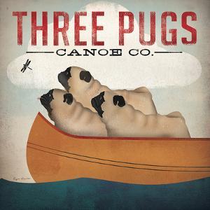 Three Pugs by Wild Apple Portfolio