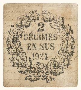 Vintage Letter Crest II Antique Border v2 by Wild Apple Portfolio