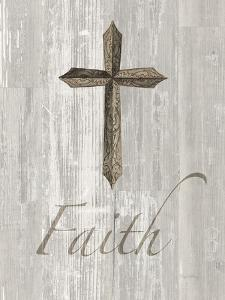Words For Worship Faith On Wood by Wild Apple Portfolio