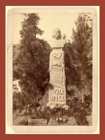 Wild Bill's Monument. James B. Hickoc [I.E. Hickok]-John C. H. Grabill-Giclee Print