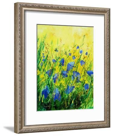 Wild blue bells flowers-Pol Ledent-Framed Art Print