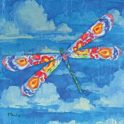 Wild Blue Dragonfly-Paul Brent-Art Print