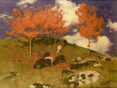 Wild Cherries in the Tyrol, c.1909-Adrian Scott Stokes-Giclee Print