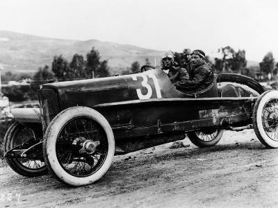 Wild Driving an Itala 51, in the Targa Florio Race, Sicily, 1922--Photographic Print