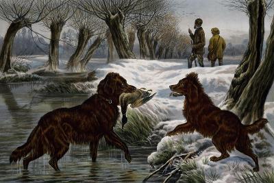 Wild Duck Hunting, 1880-Basil Bradley-Giclee Print