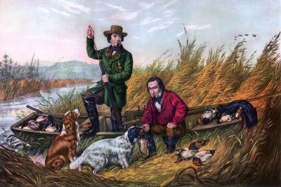 Wild Duck Shooting, 1854-Currier & Ives-Giclee Print