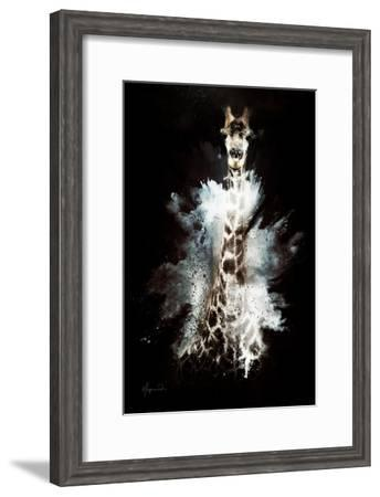 Wild Explosion Collection - The Giraffe-Philippe Hugonnard-Framed Art Print