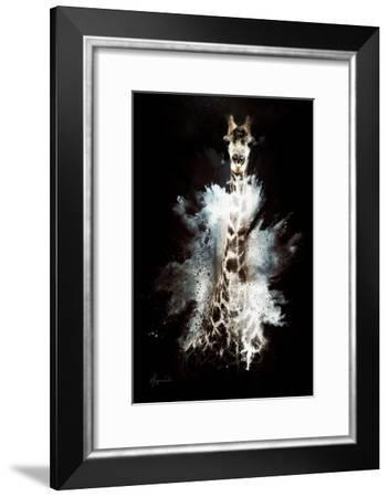 Wild Explosion Collection - The Giraffe-Philippe Hugonnard-Framed Art Print