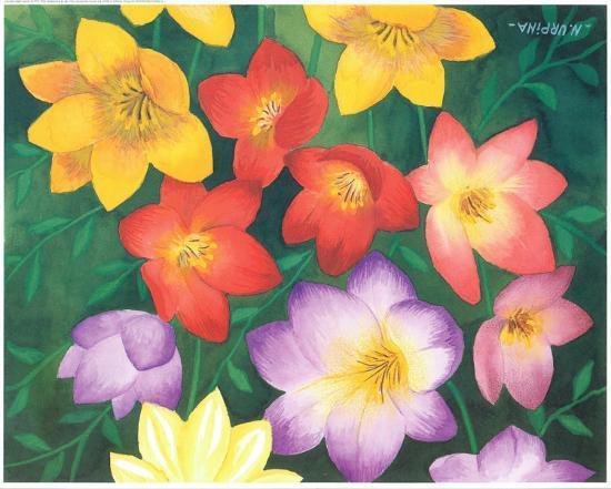 Wild Flowers I-Urpina-Art Print