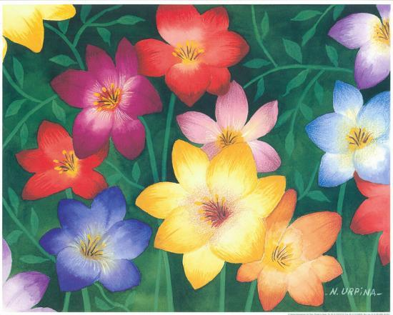 Wild Flowers II-Urpina-Art Print