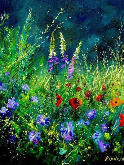 Wild flowers-Pol Ledent-Art Print