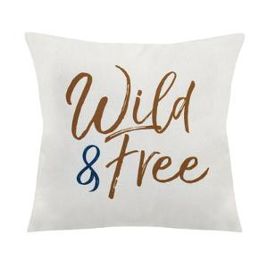 """Wild & Free"" Square Pillow"